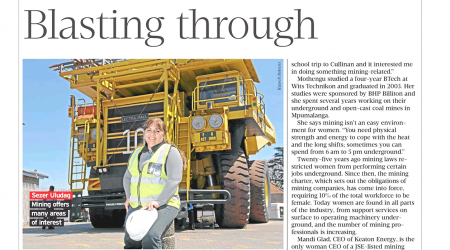 Financial Mail – Women In Mining Blasting Through, page 1