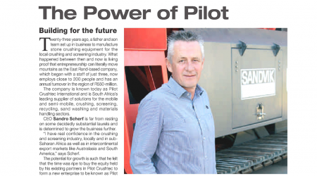 Pilot Crushtec – Enginering News Corporate Profile