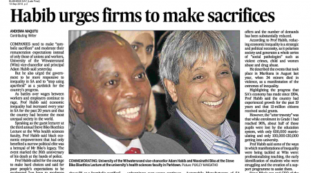 Business Day – Habib Urges Firms To Make Sacrifices