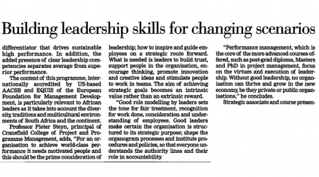 Star Business Report – Building Leadership Skills For Changing Scenarios