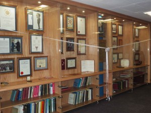 The Danie Krige Display Cabinet - official opening