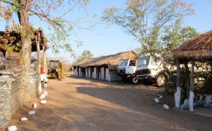 Typical coal mining exploration camp in southern Africa
