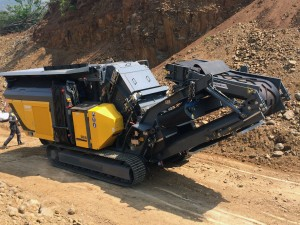 Recently purchased Rubble Master RM80GO! can easily manoeuvre in confined spaces on quarries